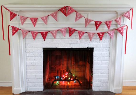 bunting Christmas advent calendar