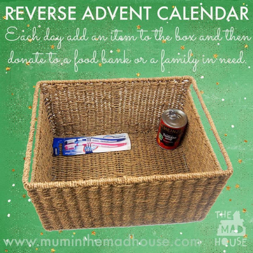 reverse advent calendar idea