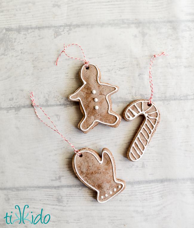 gingerbread salt dough Christmas ornament tutorial
