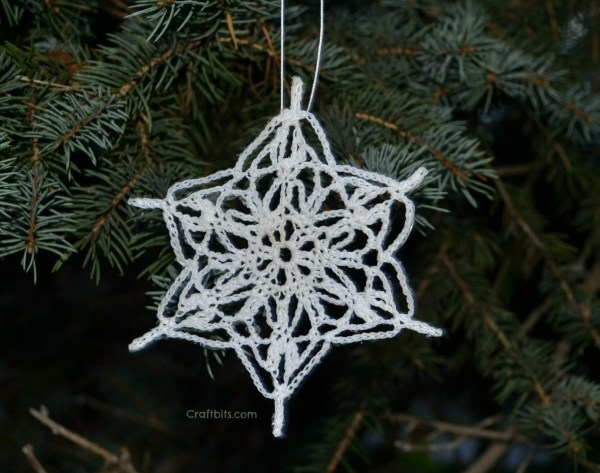 crochet snowflake pattern and tutorial
