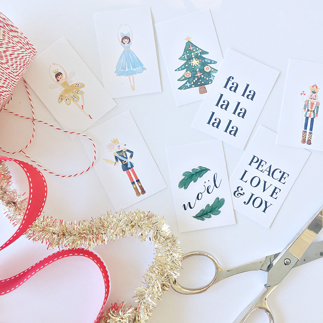 free printable nutcracker ballet themed gift tags