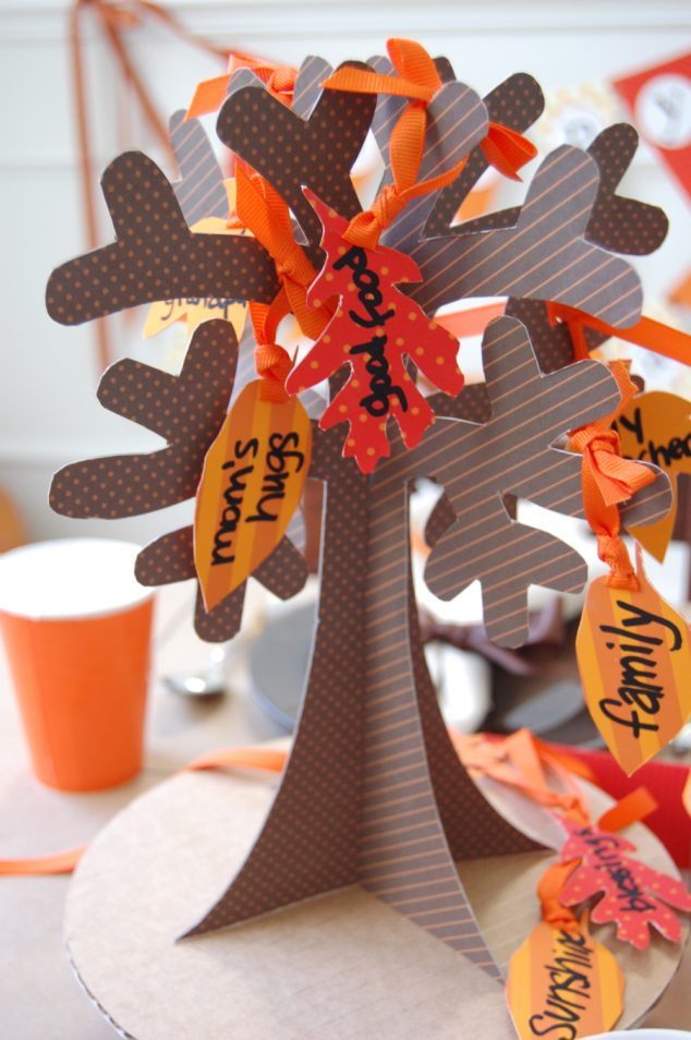 Thanksgiving thankful tree free printable