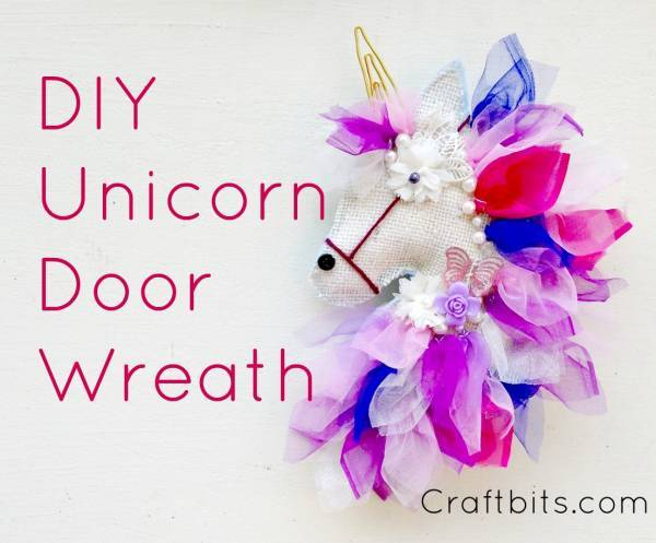 Unicorn door wreath tutorial