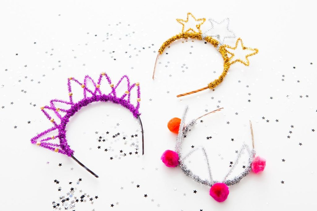 last minute pipe cleaner new years eve hats and crowns