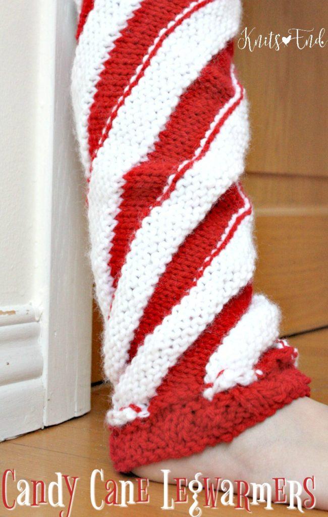 Candy Cane knit legwarmers pattern