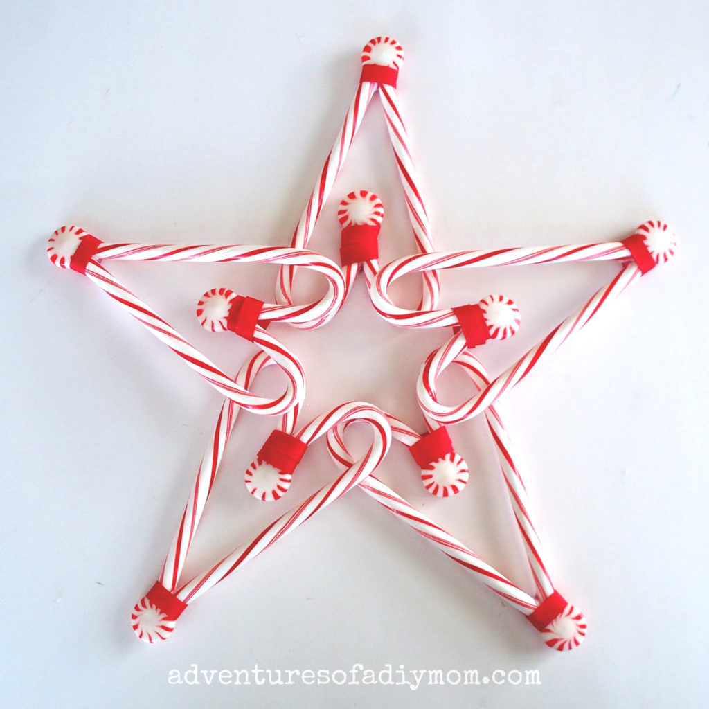 Christmas candy cane star tree topper tutorial