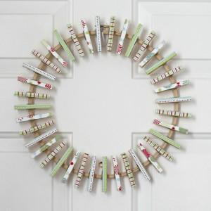 Christmas card display wreath tutorial
