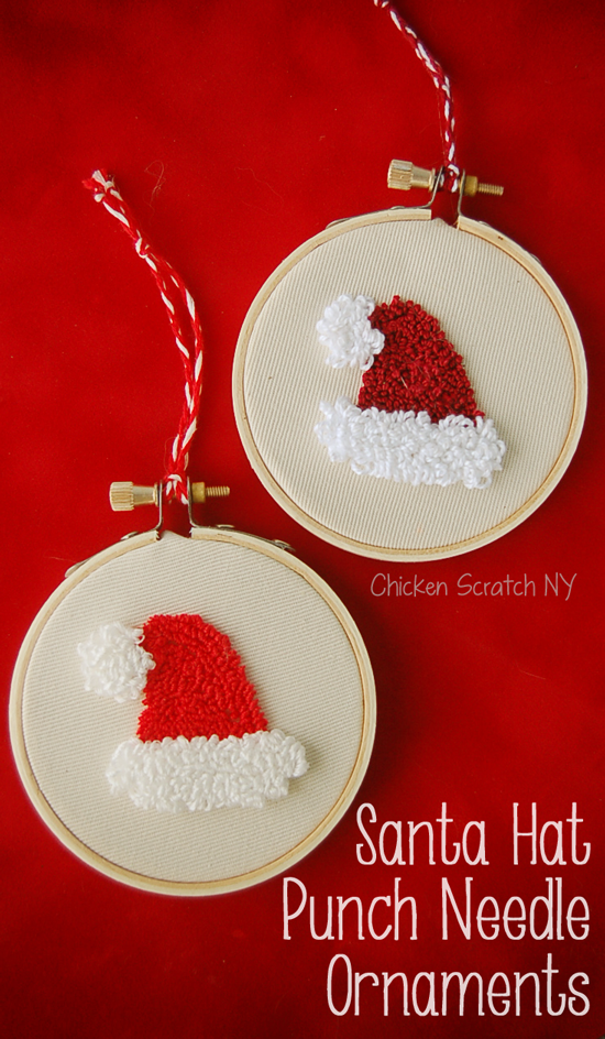Christmas needle punch ornament