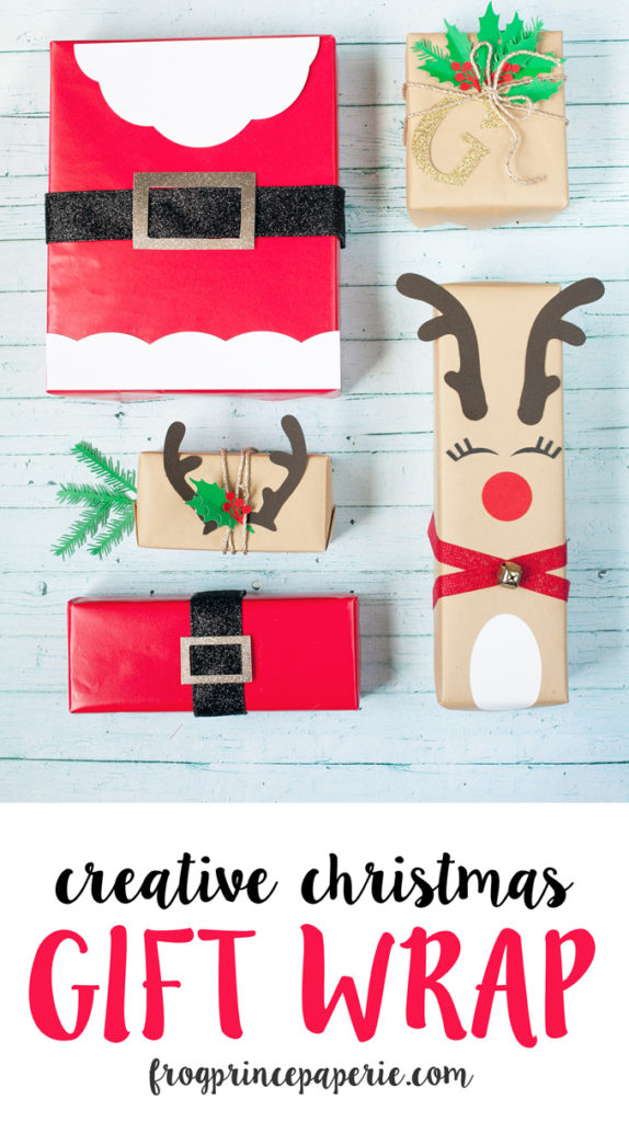 Creative Christmas gift wrap ideas with cricut
