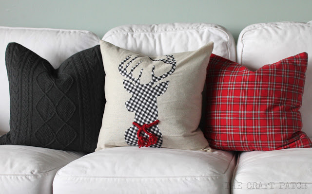 DIY Applique Christmas pillow tutorial