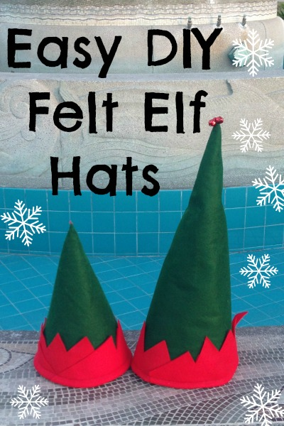 DIY Christmas felt elf hat tutorial
