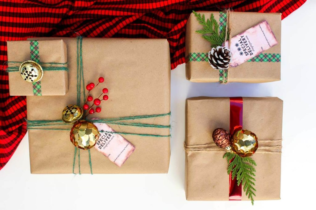 dollar store Christmas gift wrapping ideas