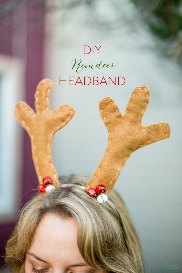 DIY reindeer antler headband tutorial for Christmas
