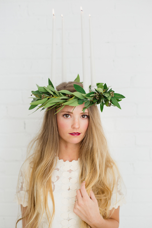 St. Lucia traditional candle headpiece tutorial