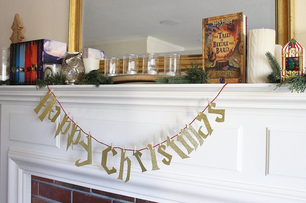 Happy Christmas Harry Potter garland or banner decoration