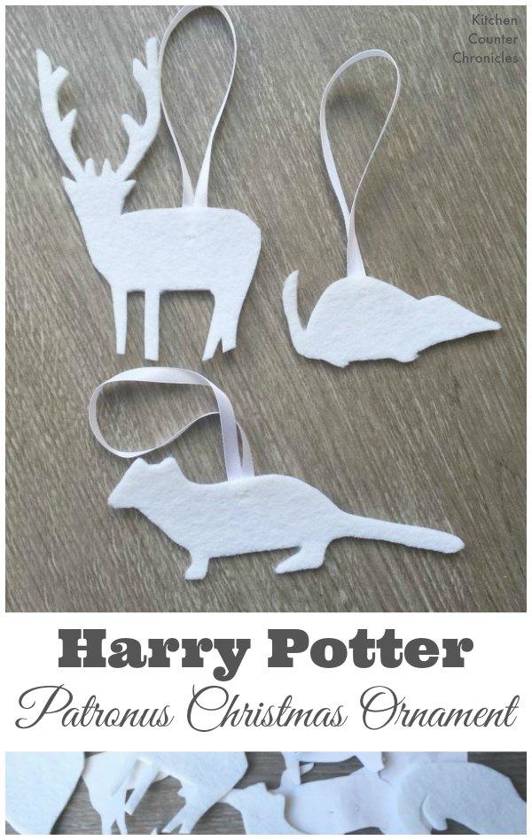 Harry Potter patronus charm felt Christmas ornaments tutorial