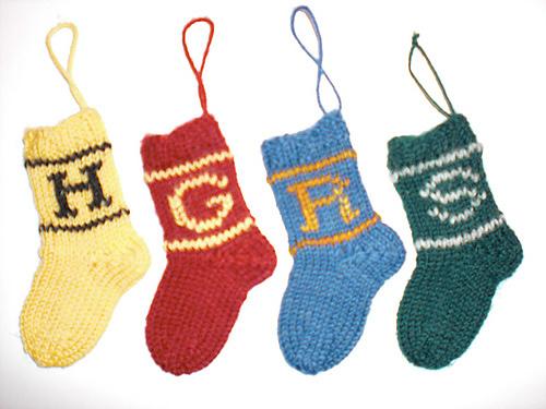 Harry Potter knit stocking Christmas ornament tutorial
