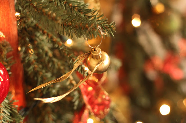 Harry Potter Golden Snitch Christmas Ornament Tutorial
