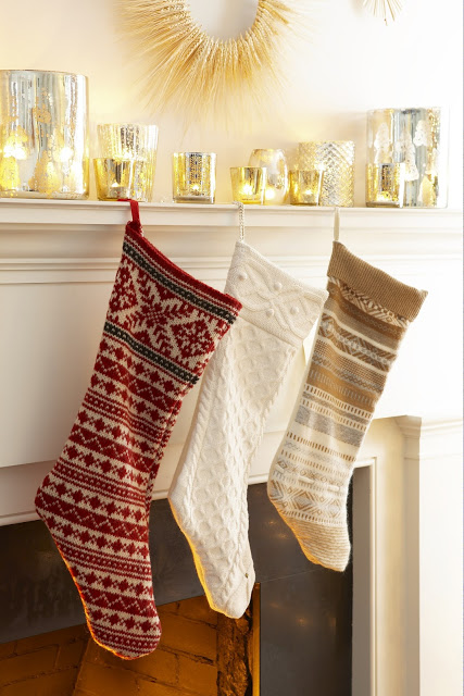 Turn old sweaters into knit stockings