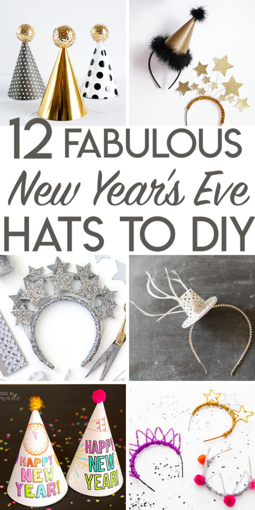 12 fabulous hats and headbands to make for New Year's Eve