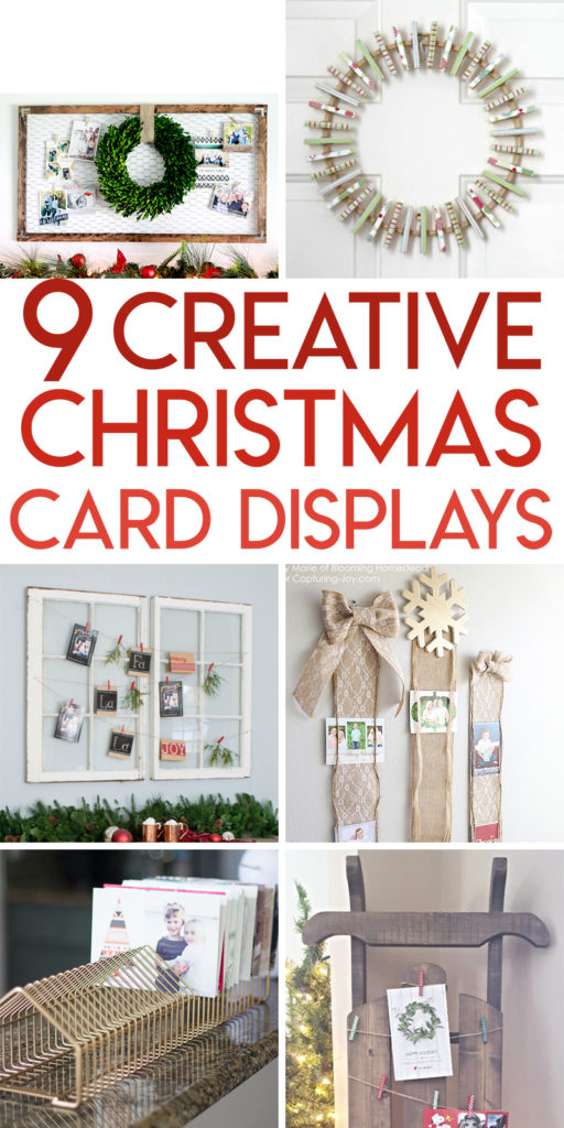 9 creative ways to display Christmas cards