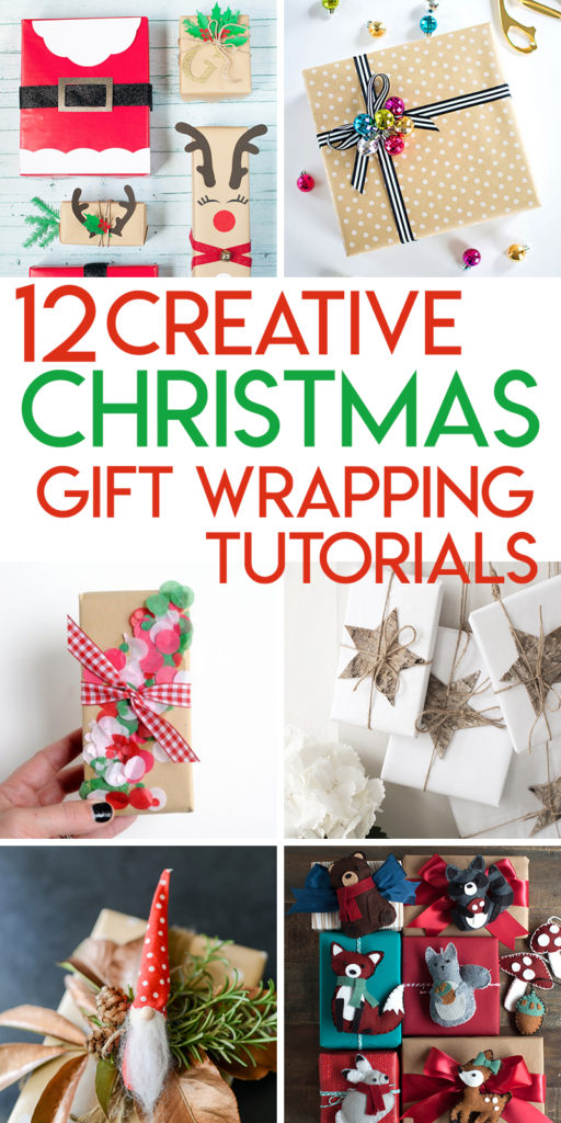 12 creative tutorials for wrapping Christmas presents