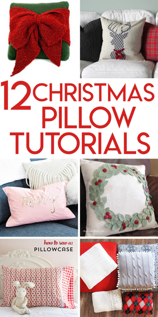 12 Christmas pillow tutorials