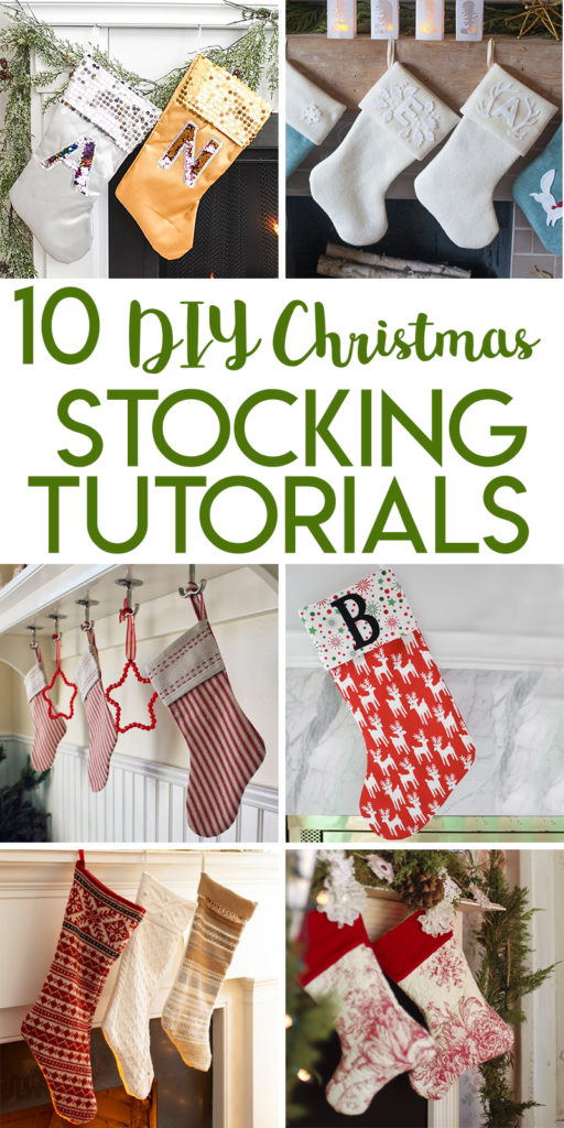 10 DIY Christmas stocking tutorials