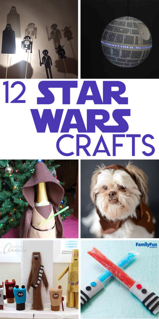 12 star wars crafts to make to celebrate the premiere of The Last Jedi