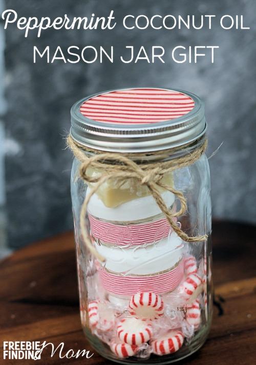 Peppermint Coconut Oil Mason Jar Gift
