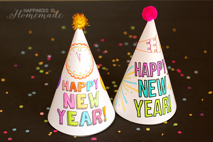 DIY color your own New Year's Eve hat tutorial