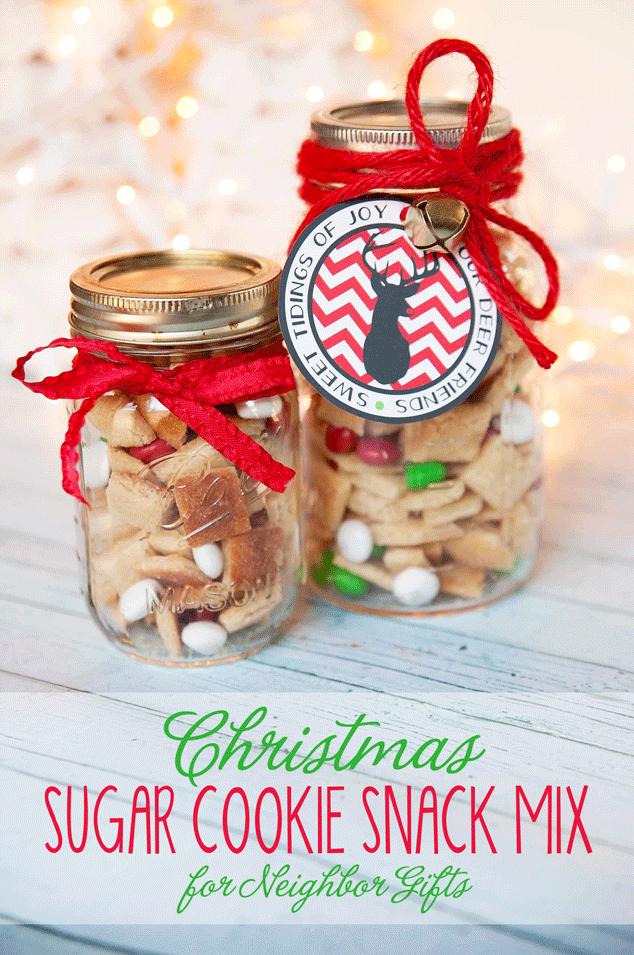free printable Christmas neighbor gift gift tag