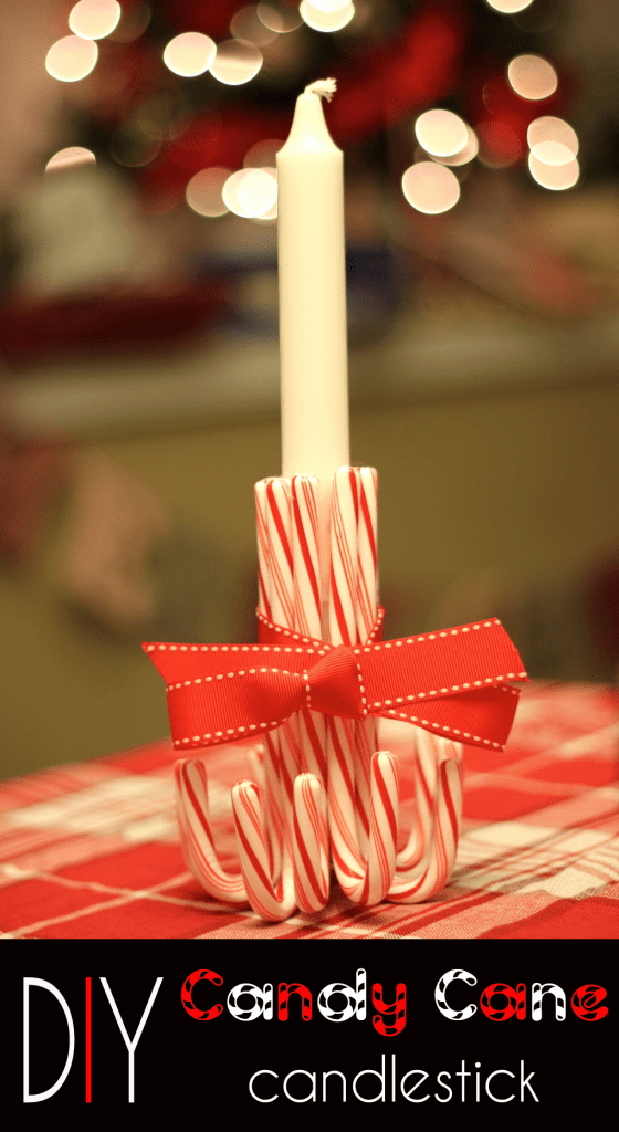 Candy cane candle holder for Christmas