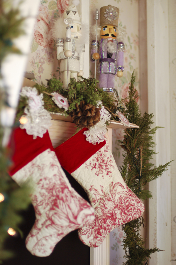 make a quilted Christmas stocking without having to quilt anything yourself.