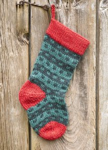 Classic knit Christmas stocking pattern