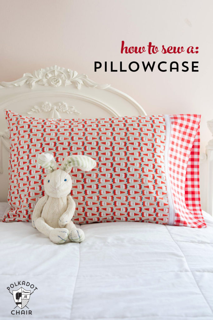DIY Christmas pillowcase pattern and tutorial