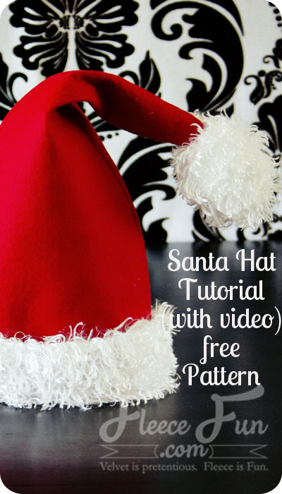 santa hat tutorial and free printable pattern