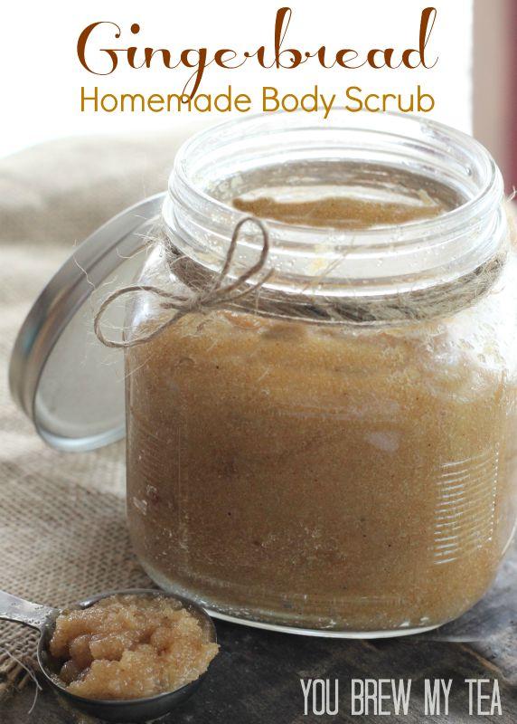gingerbread body scrub tutorial
