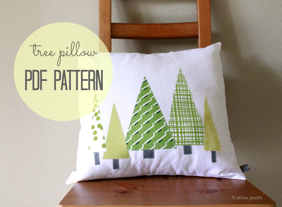 PDF printable Christmas tree pattern