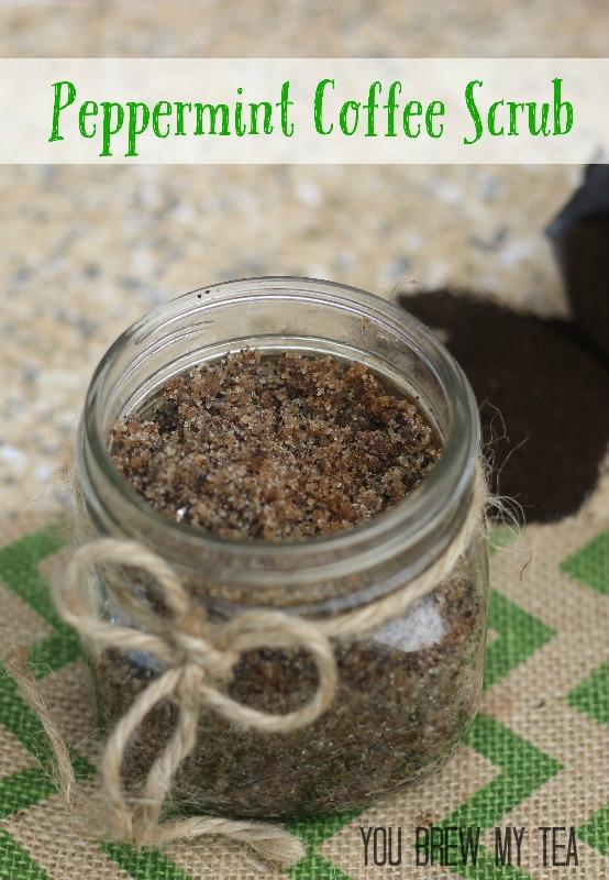 peppermint coffee scrub tutorial