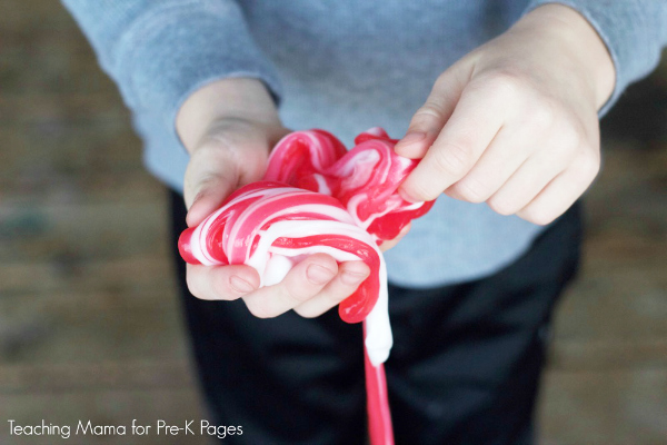 candy cane slime tutorial