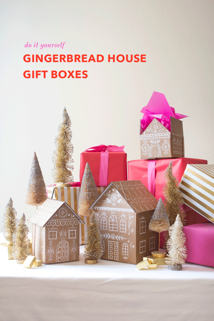DIY Gingerbread house gift box tutorial