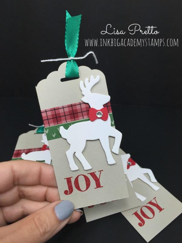reindeer DIY Christmas gift tag tutorial