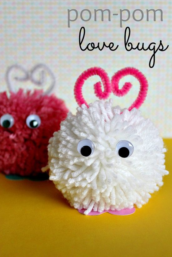 love bug craft pom pom tutorial