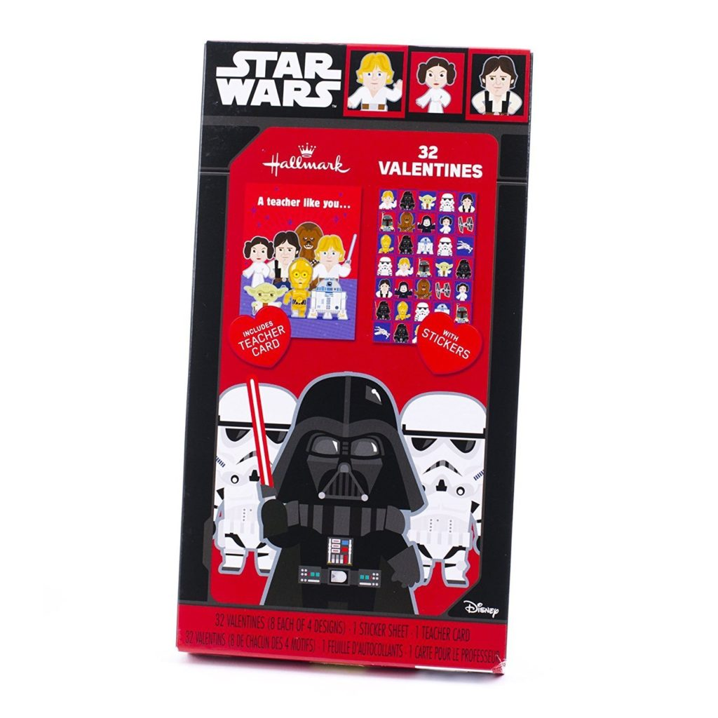 star wars stickers and valentines set from amazon