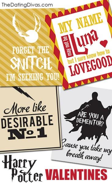 Harry potter free printable valentines