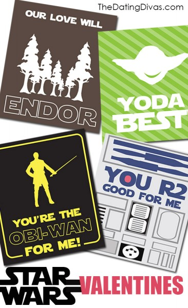 printable geeky Star wars valentine's day cards