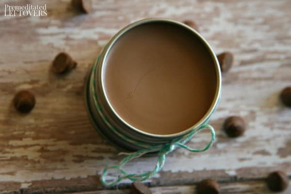 Hot chocolate lip balm tutorial