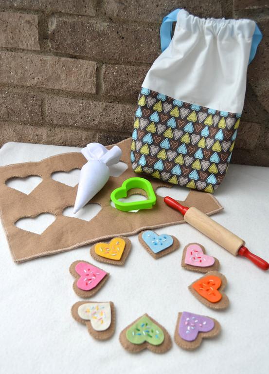 felt cookie decorating kit tutorial
