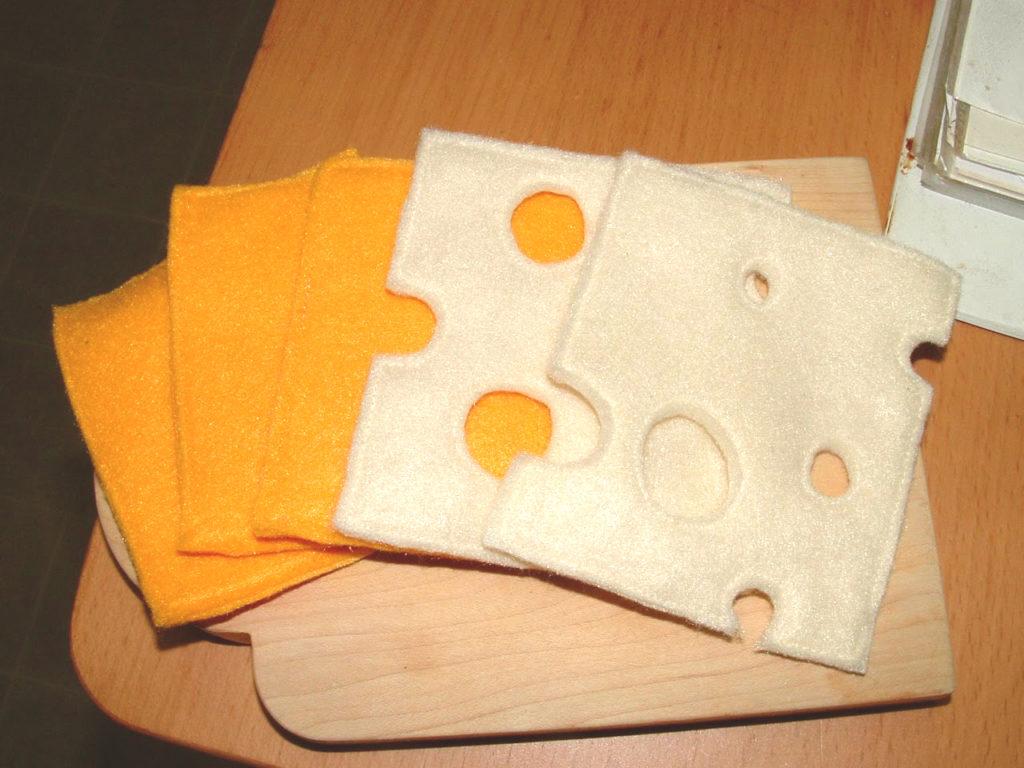 felt cheese slices tutorial